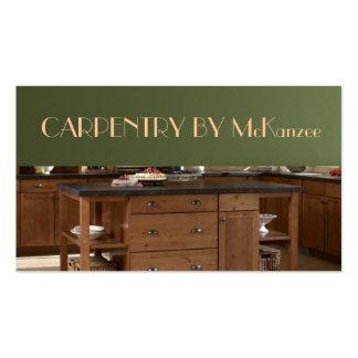 Acabe la carpintería, trabajo del molino, madera, tarjetas de visita