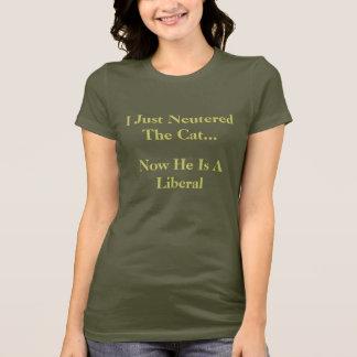 Acabo de neutralizar el gato…, ahora él soy un camiseta