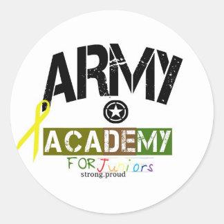 academia del ejército para los niños etiqueta