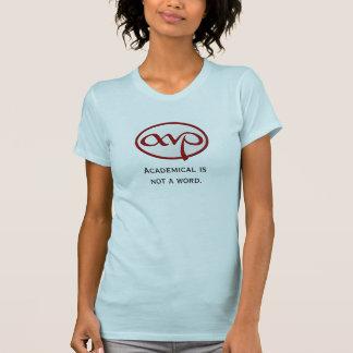 Académico no es la camiseta femenina de una palab