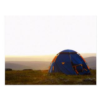 acampada en Laponia en el sol de la tarde Postal
