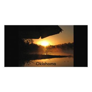 acampada, Oklahoma Tarjeta Fotografica Personalizada