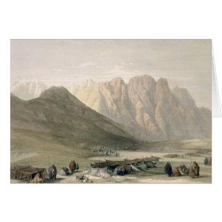Acampamento del Aulad-Dicho, monte Sinaí, Februar Tarjeta