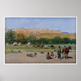 Acampamento indio 1901 de Henry Farny Póster
