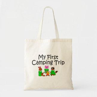 Acampando mi primera acampada bolsa tela barata