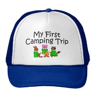 Acampando mi primera acampada gorro de camionero