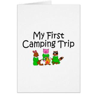 Acampando mi primera acampada felicitacion