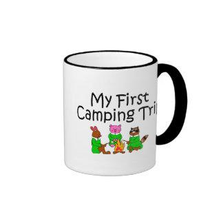 Acampando mi primera acampada tazas