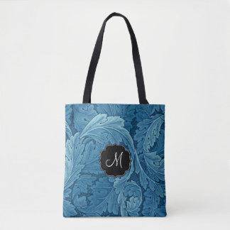 Acanthus de William Morris con el monograma Bolsa De Tela