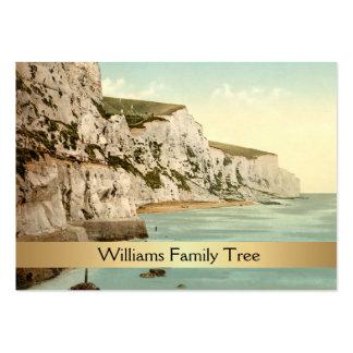 Acantilados blancos árbol de familia de Dover, Ing Plantillas De Tarjetas Personales