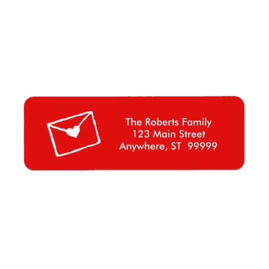 Acaricie el navidad rojo/blanco de la estación etiquetas de remite