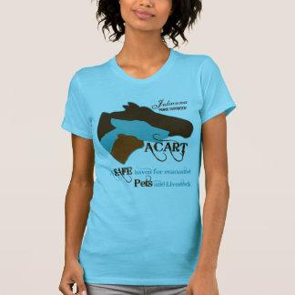 ACART - Logotipo de la turquesa y de Brown del Camisetas