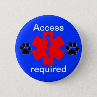 acceso alerta médico del perro del servicio del chapa redonda de 5 cm
