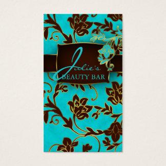 Accesorio de oro floral de las tarjetas de visita
