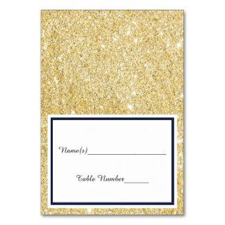 Accesorio de oro negro/falso doble - escolte la tarjeta
