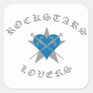 Accesorios de la ropa de moda de Rockstars y de Pegatina Cuadrada