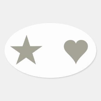 Accesorios de la ropa de moda de Rockstars y de Pegatina Ovalada