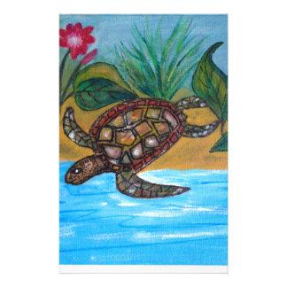 Accesorios de la tortuga o de la tortuga papeleria personalizada