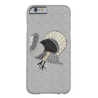 Acción de gracias adornada blanco y negro Turquía Funda De iPhone 6 Barely There
