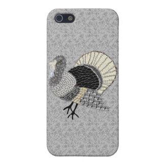 Acción de gracias adornada blanco y negro Turquía iPhone 5 Cobertura
