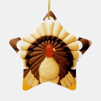 acción de gracias adorno de cerámica en forma de estrella