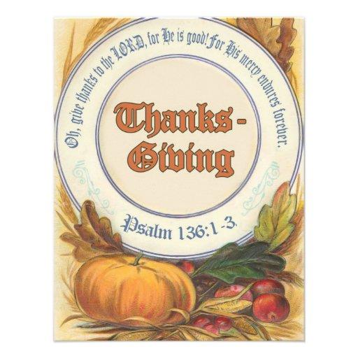 Acción de gracias cristiana del verso de la biblia invitaciones personales