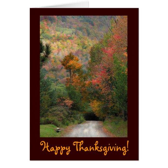Acción de gracias de la carretera nacional tarjeta de felicitación