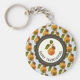 Acción de gracias de la fruta de las peras de la llavero
