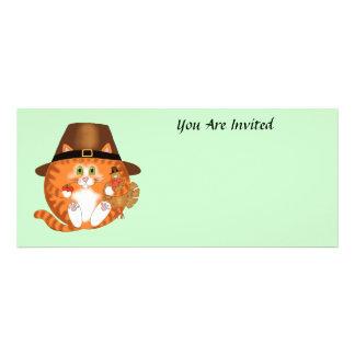 Acción de gracias del gato de la chuchería comunicados personalizados