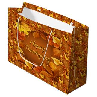 Acción de gracias feliz 1 bolsa de regalo grande