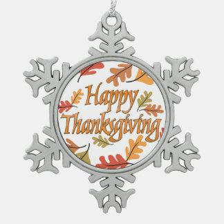 Acción de gracias feliz adorno