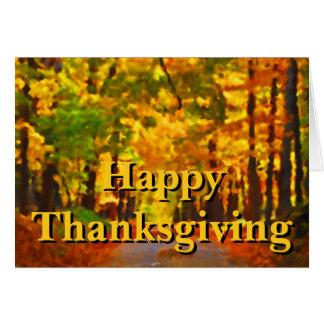 Acción de gracias feliz: Agradecimiento Tarjeta De Felicitación