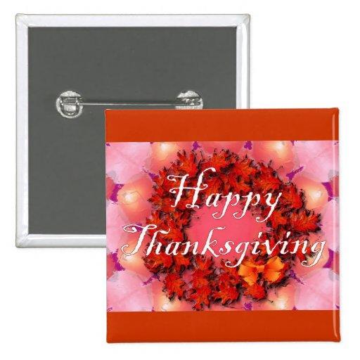 Acción de gracias feliz pin