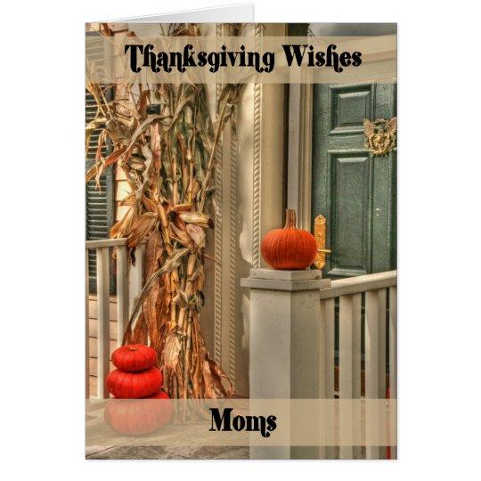 Acción de gracias feliz de las mamáes tarjeta de felicitación