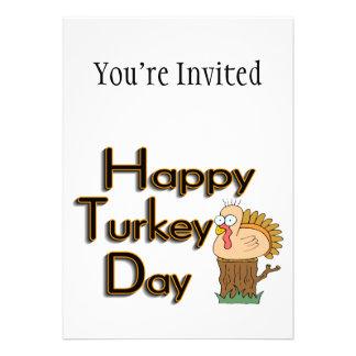 Acción de gracias feliz del día de Turquía Invitación