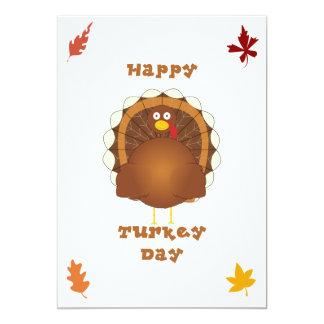 Acción de gracias feliz del día de Turquía Invitación 12,7 X 17,8 Cm
