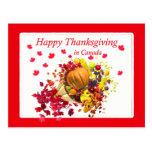 Acción de gracias feliz en la cornucopia de Canadá Tarjeta Postal