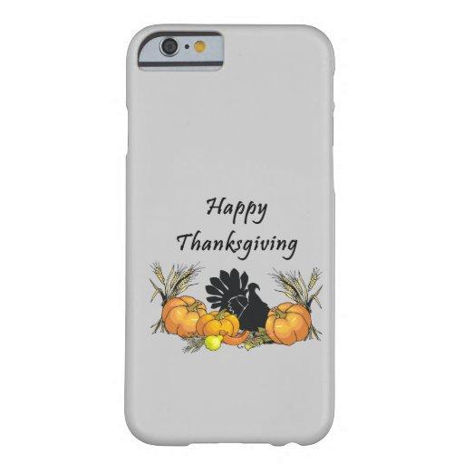 Acción de gracias feliz funda de iPhone 6 barely there