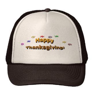Acción de gracias feliz gorras de camionero