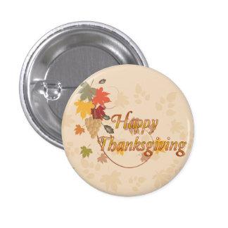 Acción de gracias feliz - hojas, uvas y cintas pins