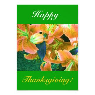 Acción de gracias feliz I Invitación 12,7 X 17,8 Cm