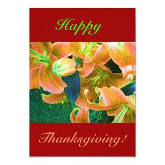 Acción de gracias feliz II Invitación 12,7 X 17,8 Cm