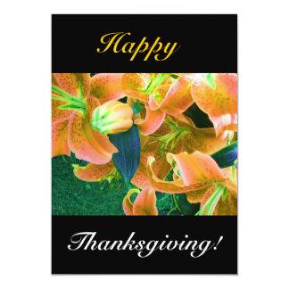 Acción de gracias feliz invitación 12,7 x 17,8 cm