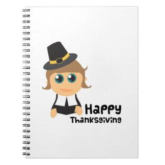 Acción de gracias feliz cuadernos
