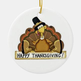 Acción de gracias feliz Turquía Ornaments Para Arbol De Navidad