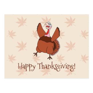 Acción de gracias feliz Turquía divertida Postal