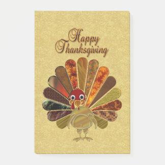 Acción de gracias feliz Turquía - notas del