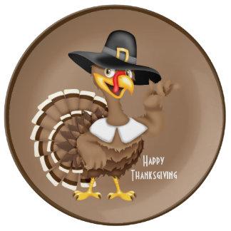 Acción de gracias feliz Turquía Platos De Cerámica