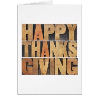 Acción de gracias feliz - vintage tarjeta de felicitación