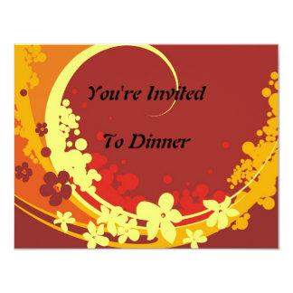 Acción de gracias invitación 10,8 x 13,9 cm